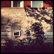 West Pullman Elementary, 11941 S Parnell Ave in West Pullman. Opened 1894, closed 2013. There are two historic Works Progress Administration murals in the auditorium. Photographed Monday, Aug. 26, 2013 with an iPhone and the Instagram filter Brannan. (Brian Cassella/Chicago Tribune) B583150507Z.1 <br /> ....OUTSIDE TRIBUNE CO.- NO MAGS,  NO SALES, NO INTERNET, NO TV, CHICAGO OUT, NO DIGITAL MANIPULATION...
