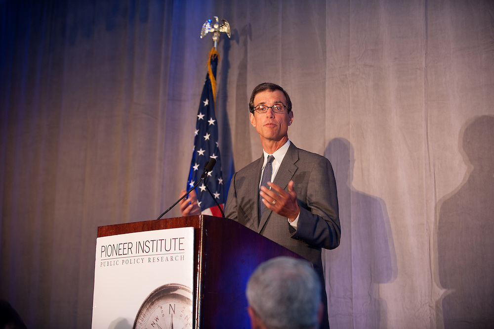 State Representative Will Brownsberger (D-Belmont), seen here, was the winner of the Pioneer Institute's 2011 Better Government Competition. Governor Rick Perry was the keynote speaker at the Pioneer Institute's 2011 Better Government Competition Awards Dinner held at the Hyatt Regency, boston, Sept. 13.