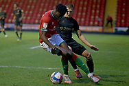 Walsall's Elijah Adebayo during the EFL Sky Bet League 2 match between Walsall and Oldham Athletic at the Banks's Stadium, Walsall, England on 16 January 2021.