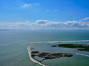 Nederland, Flevoland, Markermeer, 07-05-2021; Marker Wadden in het Markermeer. Gezien naar het Westen.<br /> Doel van het project van Natuurmonumenten en Rijkswaterstaat is natuurherstel, met name verbetering van de ecologie in het gebied, in het bijzonder de kwaliteit van bodem en water. De Marker Wadden archipel bestaat momenteel uit vijf eilanden, twee nieuwe eilanden zijn in ontwikkeling.<br /> Marker Wadden, artifial islands. The aim of the project is to restore the ecology in the area, in particular the quality of soil and water.<br /> The Marker Wadden archipelago currently consists of five islands, two new islands are under development.<br /> luchtfoto (toeslag op standard tarieven);<br /> aerial photo (additional fee required)<br /> copyright © 2021 foto/photo Siebe Swart