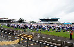Memorial Stadium pitch was filled with rovers fans. - Photo mandatory by-line: Alex James/JMP - Mobile: 07966 386802 - 25/05/2015 - SPORT - Football - Bristol - Memorial Stadium -    Bristol Rovers Bus Tour