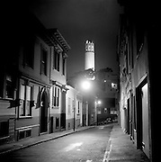Castle Street with view of Coit Tower