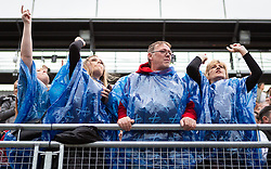 The Proclaimers at Edinburgh Castle 21 July 2019; The Proclaimers play their home town with a live show at Edinburgh Castle. The wet and windy weather doesn't stop the fans enjoying The Proclaimers live show.<br /> <br /> (c) Chris McCluskie   Edinburgh Elite media