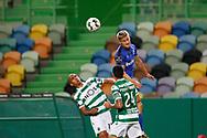 Rúben Lima above all during the Liga NOS match between Sporting Lisbon and Belenenses SAD at Estadio Jose Alvalade, Lisbon, Portugal on 21 April 2021.