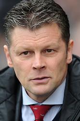 Bristol City manager, Steve Cotterill - Photo mandatory by-line: Dougie Allward/JMP - Mobile: 07966 386802 - 03/04/2015 - SPORT - Football - Oldham - Boundary Park - Bristol City v Oldham Athletic - Sky Bet League One