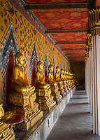 BANGKOK, THAILAND - CIRCA SEPTEMBER 2014: Inside hallway in  Wat Arun, a  popular Buddhist temple in Bangkok Yai district of Bangkok, Thailand, on the Thonburi west bank of the Chao Phraya River