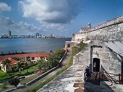 Morro fort, castle in Havana, Cuba.<br /> Castillo De Los Tres Reyes Del Morro.