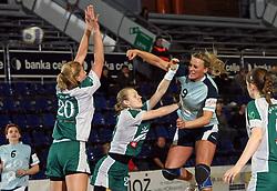 Martina Strmsek of Ptuj at handball game ZRK Mercator Tenzor Ptuj vs RK Olimpija PLK in match for the third place of Slovenian Handball Cup,  on April 6, 2008 in Arena Golovec, Celje, Slovenia. Ptuj won the game 32:22 and placed third.  (Photo by Vid Ponikvar / Sportal Images)