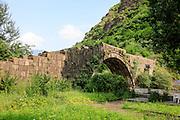 Ancient medieval stone bridge Haghpat, Lori Province, Armenia