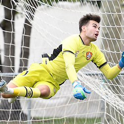 BRISBANE, AUSTRALIA - DECEMBER 10: Andre Janesse of the Roar attempts to save a shot on goal during the round 5 Foxtel National Youth League match between the Brisbane Roar and Adelaide United at AJ Kelly Field on December 10, 2016 in Brisbane, Australia. (Photo by Patrick Kearney/Brisbane Roar)