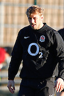 Picture by Andrew Tobin/Focus Images Ltd. 07710 761829.. 2/2/12. England captain Chris Robshaw during the England team training session held for the first time at Surrey Sports Park, Guildford, UK, before their 6-Nations game against Scotland
