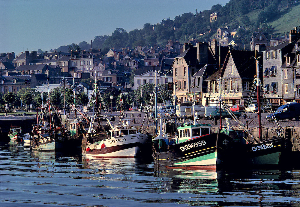 Dawn comes slowly to the fishing town of Honfleur on the Normandy coast in northern France.
