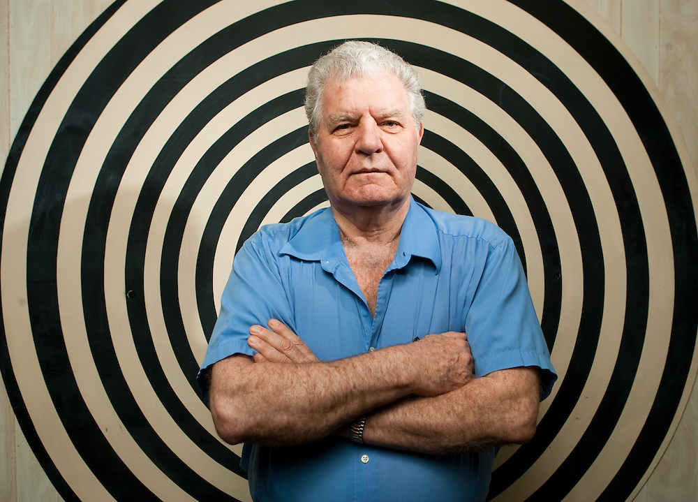 Waltham, MA 02/14/2011<br /> Raffaele Bibbo, hypnotist and paranormal investigator, photographed in his office in Waltham.