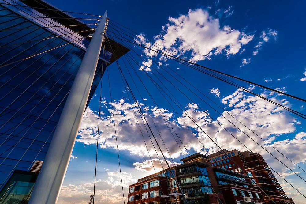 Millennium Bridge, Downtown Denver, Colorado USA.