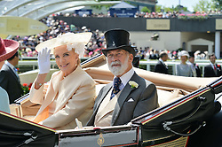 PRINCE & PRINCESS MICHAEL OF KENT at the first day of the 2014 Royal Ascot Racing Festival, Ascot Racecourse, Ascot, Berkshire on 17th June 2014.