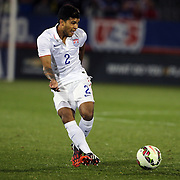 DeAndre Yedlin, (left), USA,in action during the USA Vs Ecuador International match at Rentschler Field, Hartford, Connecticut. USA. 10th October 2014. Photo Tim Clayton