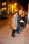 SERENA REES; PAUL SIMONON, Opening of new White Cube Gallery in Bermondsey. London. 11 October 2011. <br /> <br />  , -DO NOT ARCHIVE-© Copyright Photograph by Dafydd Jones. 248 Clapham Rd. London SW9 0PZ. Tel 0207 820 0771. www.dafjones.com.