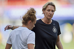 June 29, 2019 - Rennes, France - Martina Voss-Tecklenburg head coach of Germany gives instructions to Julia Zigiotti (Kopparbergs/Goteborg FC) of Sweden during the 2019 FIFA Women's World Cup France Quarter Final match between Germany and Sweden at Roazhon Park on June 29, 2019 in Rennes, France. (Credit Image: © Jose Breton/NurPhoto via ZUMA Press)