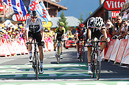 Arrival, Christopher Froome (GBR - Team Sky), Tom Dumoulin (NED - Team Sunweb) during the 105th Tour de France 2018, Stage 11, Alberville - La Rosiere Espace Bernardo (108,5 km) on July 18th, 2018 - Photo Luca Bettini / BettiniPhoto / ProSportsImages / DPPI