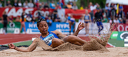 26.05.2018, Moeslestadion, Götzis, AUT, 45. Hypo Meeting Goetzis, Siebenkampf Damen, im Bild Kendell Williams (USA) beim Weitsprung // Kendell Williams of United States of the 45th Hypo Athletics Meeting at the Moeslestadion in Götzis, Austria on 2018/05/26. EXPA Pictures © 2019, PhotoCredit: EXPA/ Peter Rinderer