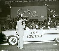 1956 Art Linkletter at the Christmas Santa Claus Lane Parade on Hollywood Blvd