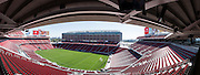 This panoramic photo of Levi's Stadium shows the field ready for a MLS game between the San Jose Earthquakes and the Seattle Sounders FC, photographed at Levi's Stadium in Santa Clara, California, on August 1, 2014. (Stan Olszewski/SOSKIphoto)