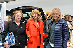 Left to right, CAMILLA LOWTHER, the MARCHIONESS OF BUTE and CATH KIDSTON at #SheInspiresMe Car Boot Sale in Aid of Women for Women International held at the Brewer Street Carpark, Soho, London on 23rd April 2016.