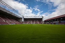 Tynecastle Stadium, home of Heart of Midlothian FC.<br /> ©Michael Schofield.