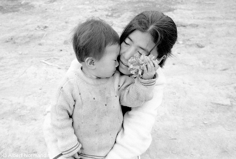 A private moment with a mother and child