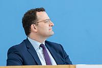 """09 APR 2020, BERLIN/GERMANY:<br /> Jens Spahn, CDU, Bundesgesundheitsminister, Pressekonferenz """"Unterrichtung der Bundesregierung zur Bekämpfung des Coronavirus"""", Bundespressekonferenz<br /> IMAGE: 20200409-01-019<br /> KEYWORDS: BPK"""