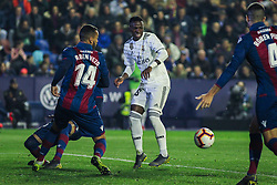 February 24, 2019 - Valencia, Valencia, Spain - Vinicius Jr. of Real Madrid  in action during La Liga Spanish championship, football match between Levante and Real Madrid, February 24th, Ciudad de Valencia stadium, in Valencia, Spain. (Credit Image: © AFP7 via ZUMA Wire)