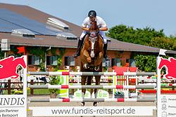 09, Youngster-Springprfg. Kl. M**  6-8j. Pferde,, Ehlersdorf, Reitanlage Jörg Naeve, 15. - 18.07.2021, Markus Brose (GER), Quintero Palermo,