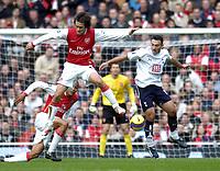 Photo: Olly Greenwood.<br />Arsenal v Tottenham Hotspur. The Barclays Premiership. 02/12/2006. Arsenal's Tomas Rosicky and Tottenham's Steed Malbranque
