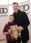 Connolly Motor Group has opened its new state-of-the-art Audi Terminal Showrooms in Ballybrit, Galway. <br /> The finishing touches have been put to the ultra-modern dealership, increasing to 35 full-time jobs, bringing the number of full-time employees at the Connolly Motor Group to over  200 with 35 of those located in Galway.<br /> Work on the new €5 million state-of-the-art dealership began just before Christmas last year and opened on Tuesday October 31st.<br /> The new 'Audi Terminal' is just a stone's throw from Connollys' former Audi Galway dealership at the Briarhill Business Park, close to the Galway Racecourse in Ballybrit. <br /> Finished to the highest spec with the most up-to-date technology, the 23,000 sq. ft. car retail facility is based around Audi's newest design concept. <br /> It is one of the most modern facilities in the country and includes the most up-to-date technology for electric vehicles with multiple power points.<br /> At the Weekend launch was Joe Canning Audi Ambassador with  Shane Buckley Photo:Andrew Downes