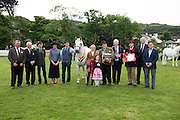 Supreme Champion owned by Tomas and Fiona Grimes with judges and sponsors at the 93rd annual Connemara Pony show in Clifden Co. Galway  Photo:Andrew Downes, XPOSURE