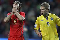 20090328: PORTO, PORTUGAL - Portugal vs Sweden: World Cup 2010 Qualifying Match. In picture: dani and johanson . PHOTO: Ricardo Estudante/CITYFILES