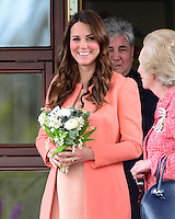 The Duchess of Cambridge visits Naomi House Children's Hospice, Hampshire, UK, on the 29th April 2013<br /> <br /> Picture by James Whatling
