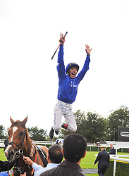 FRANKIE DETTORI after winning the Coutts Goodwood Cup riding Schiaparelli at the 3rd day of the 2009 Glorious Goodwood racing festival held at Goodwood Racecourse, West Sussex on 30th July 2009.