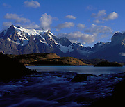 Lake Pehoe, Patagonia, Chile, South America<br />