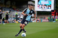 Luke O'Nien of Wycombe Wanderers in action. Skybet football league two match, Wycombe Wanderers v Hartlepool Utd at Adams Park in High Wycombe, Bucks on Saturday 5th Sept 2015.<br /> pic by John Patrick Fletcher, Andrew Orchard sports photography.
