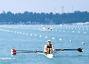 Milan ITALY,  USA BM2X. 1997 Nations Cup U23  World Rowing Championships. Course, Idra Scala. Province of Milan.<br /> <br /> [Mandatory Credit; Peter Spurrier/Intersport-images] 1997 U23 Nations Cup U23 Championships. Milan Italy