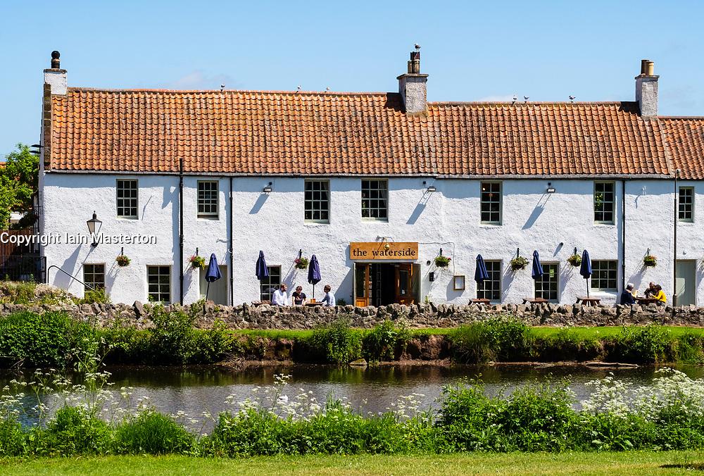 The Waterside Pub beside the River Tyne in Haddington, East Lothian, Scotland, UK.