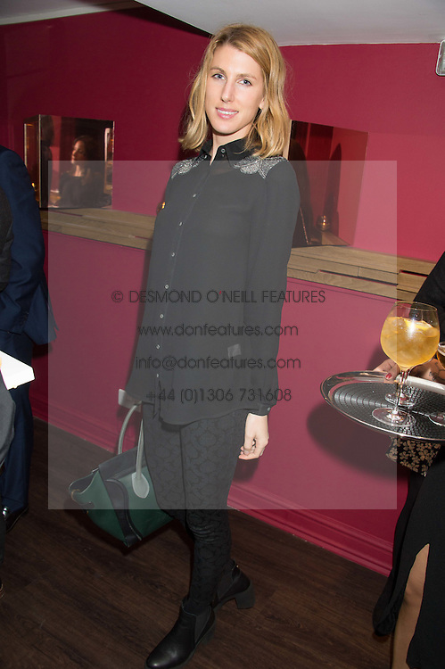SUSANNA WARREN at the launch of La Maison Remy Martin pop-up private members club at 19 Greek Street, Soho, London on 2nd November 2015.