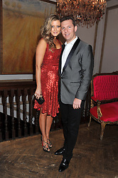 NICK CANDY and HOLLY VALANCE at the 39th birthday party for Nick Candy in association with Ciroc Vodka held at 5 Cavindish Square, London on 21st Januatu 2012.
