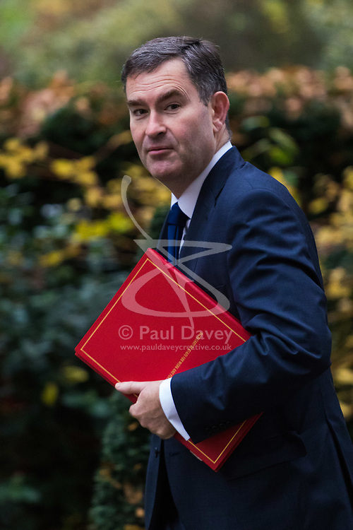 London, December 05 2017. Secretary of State for Work and Pensions David Gauke arrives at 10 Downing Street to attend the weekly cabinet meeting. © Paul Davey
