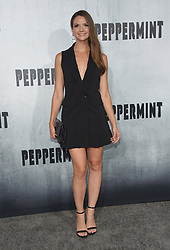 August 28, 2018 - Hollywood, California, U.S. - Ashley Gibson arrives for the premiere of the film 'Peppermint' at the Regal Cinemas LA Live theater. (Credit Image: © Lisa O'Connor/ZUMA Wire)