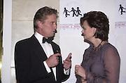 Michael Douglas and Cherie Blair. ICMEC Gala launch. Savoy. 5 October 2000.  © Copyright Photograph by Dafydd Jones 66 Stockwell Park Rd. London SW9 0DA Tel 020 7733 0108 www.dafjones.com