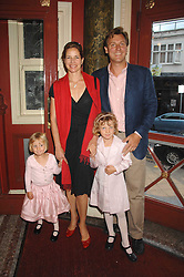 DARCEY BUSSELL and her husband ANGUS FORBES with their daughters left, ZOE and right PHOEBE at a children's ballet workshop and tea party to celebrate the world premiere of 'Angelina's Star Performance' Angelina Ballerina's first real life ballet hosted by the National Ballet at the New Wimbledon Theatre, London SW19 on 6th September 2007.<br /><br />NON EXCLUSIVE - WORLD RIGHTS