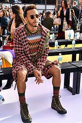 Lewis Hamilton attending the Missoni catwalk show during Milan Fashion Week 2017