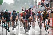 Arrival sprint Elia Viviani (ITA - QuickStep - Floors) - Sam Bennett (IRL - Bora - Hansgrohe) - Danny Van Poppel (NED - Team LottoNL - Jumbo) during the 101th Tour of Italy, Giro d'Italia 2018, stage 17, Riva del Garda - Iseo 155 km on May 23, 2018 in Italy - Photo Luca Bettini / BettiniPhoto / ProSportsImages / DPPI